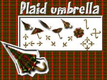 Plaid umbrella