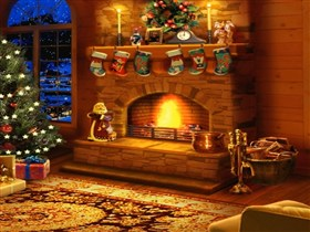 my christmas fireplace