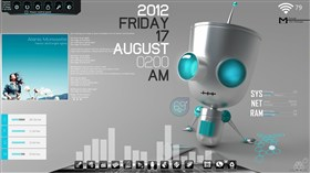 Chillin' Bot Desktop v2.0 for Rainmeter