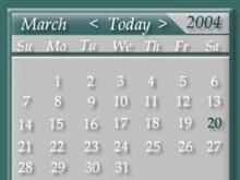 Visus calendar widget