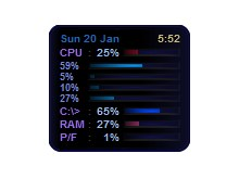 $(&#39;cpu&#39;).slim