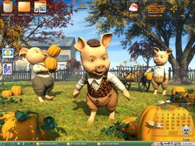 Pumpkin Pickin Pigs