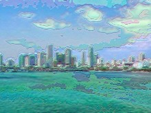 Miami Skyline in Pastels