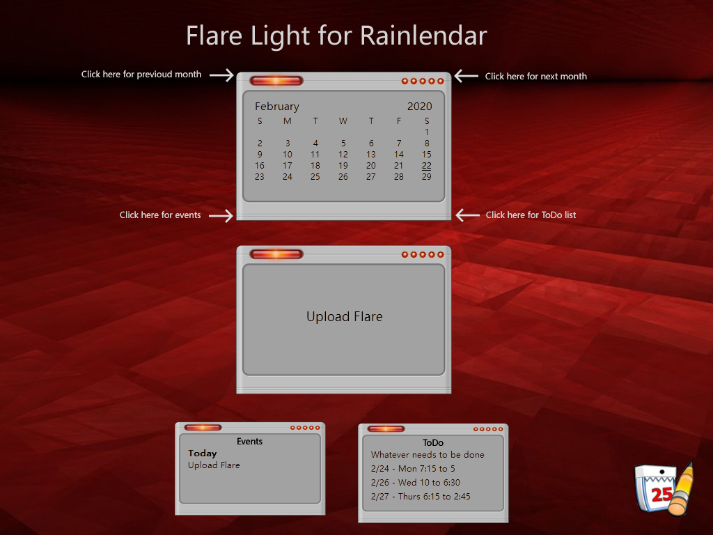 Flare Light Rainlendar