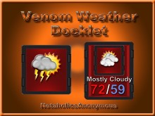 Venom Weather Docklet