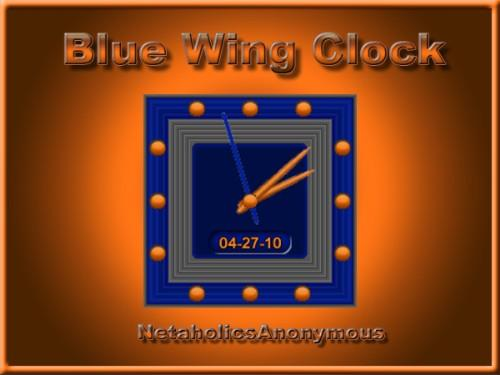 Blue Wing Clock
