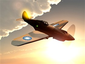 P-40 at Sunset