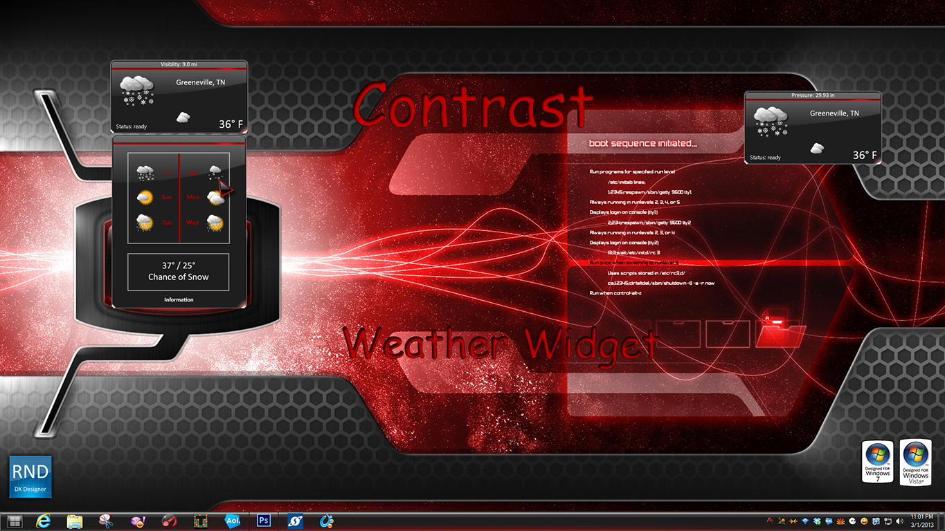 Contrast Weather Widget