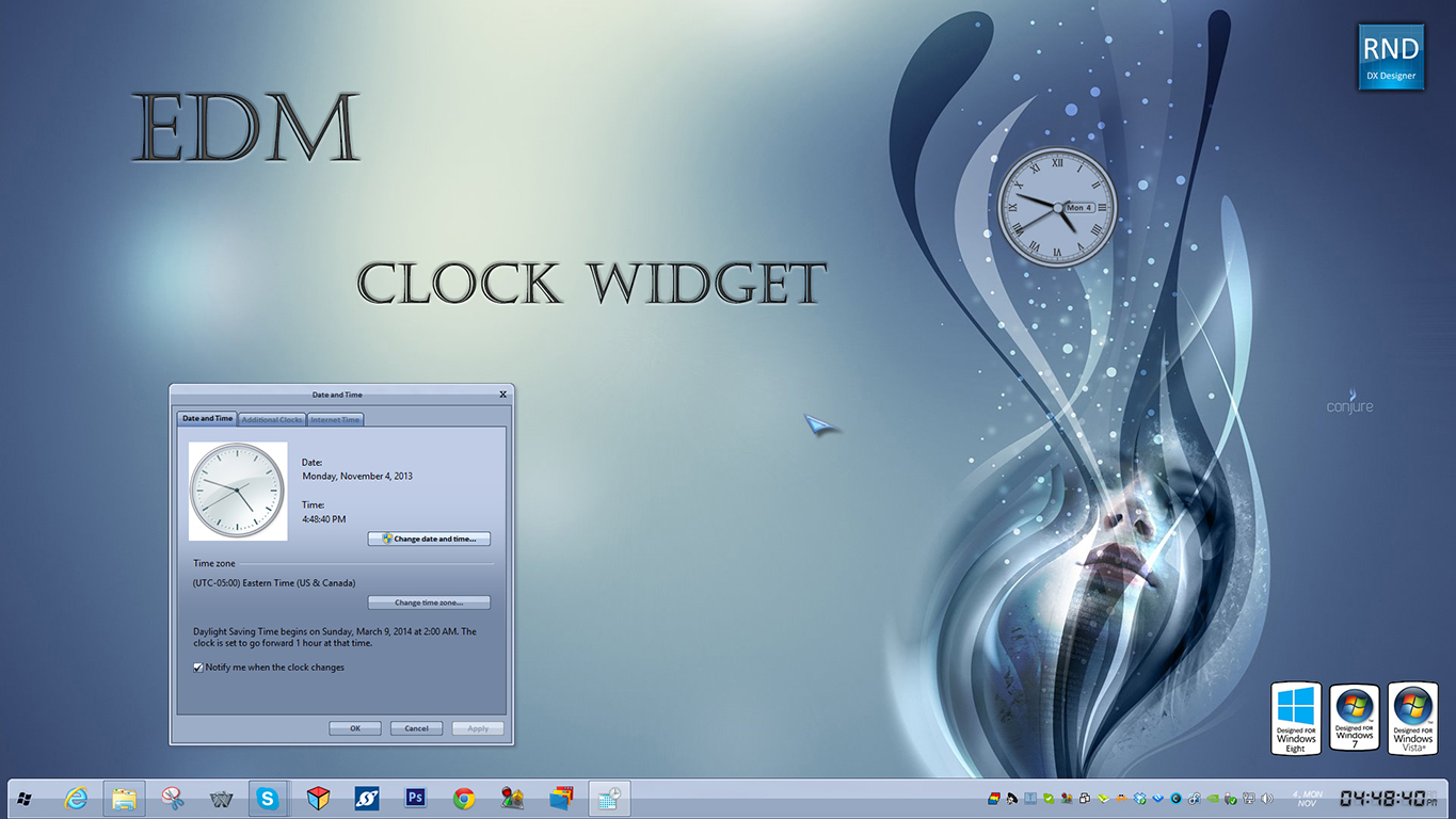 EDM Clock Widget