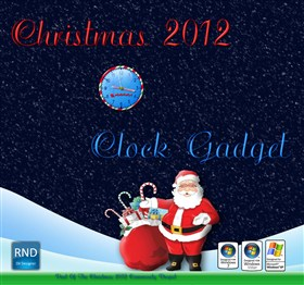 Christmas 2012 Clock Gadget