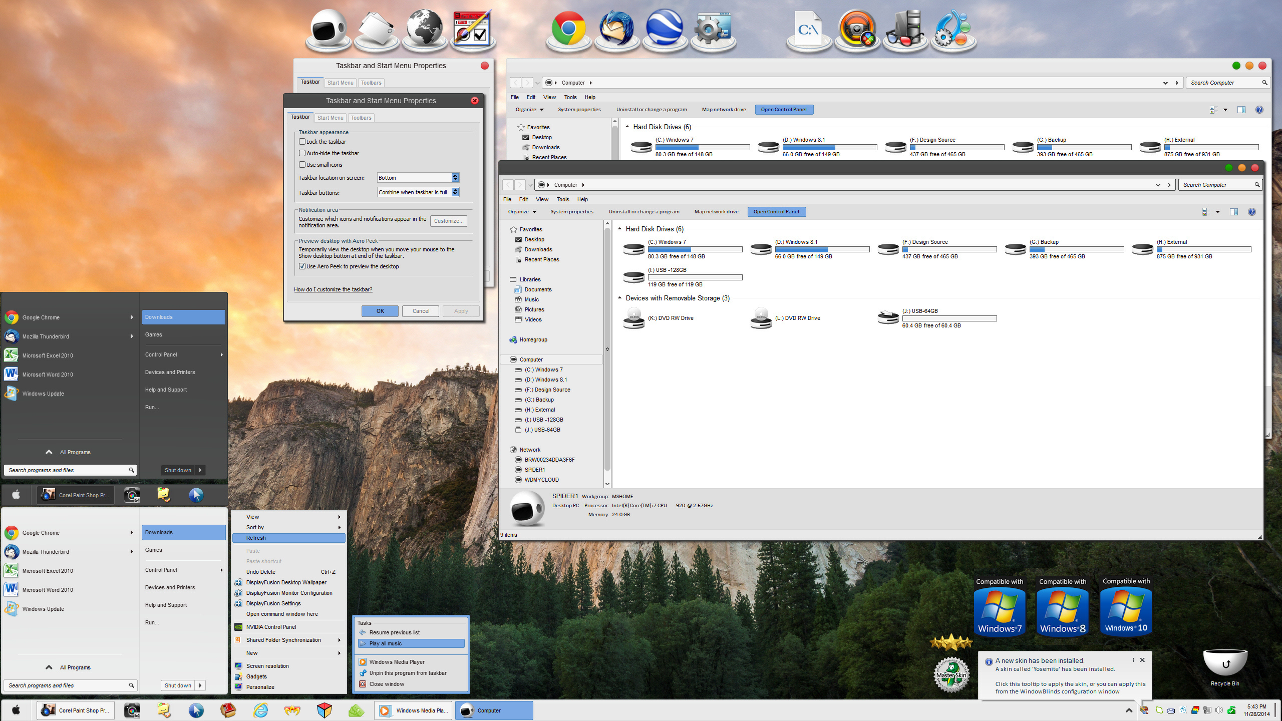 Yosemite for Windowblinds