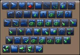 Slider toolbar icons