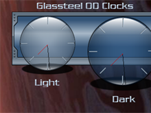 Glassteel Blue Clocks