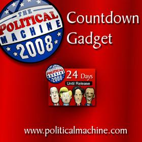 Political Machine 2008 Countdown - Sidebar Gadget