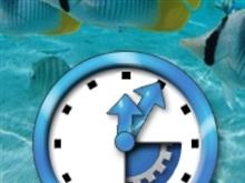 Aqua Imagine Clock
