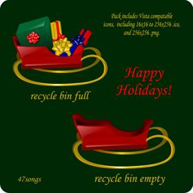 Holiday Recycle Bins