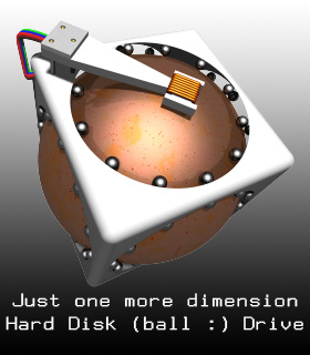 Hard Disk Drive  (Just One More Dimension)